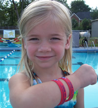 Red - Danger Water Safety Bracelet