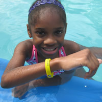 Yellow - Caution Water Safety Bracelet